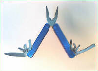 Pliers Multi-tool With Nylon Case 7 Blades + Credit Card Folding Knife + Led