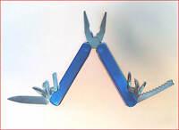 Pliers Multi-tool W Nylon Case 7 Blades + Credit Card Fold Knife + Led + Knife