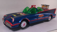 VINTAGE BATMAN BATMOBILE TIN LITHO V8 PISTON CAR 1970's BATTERY OPERATED - RARE