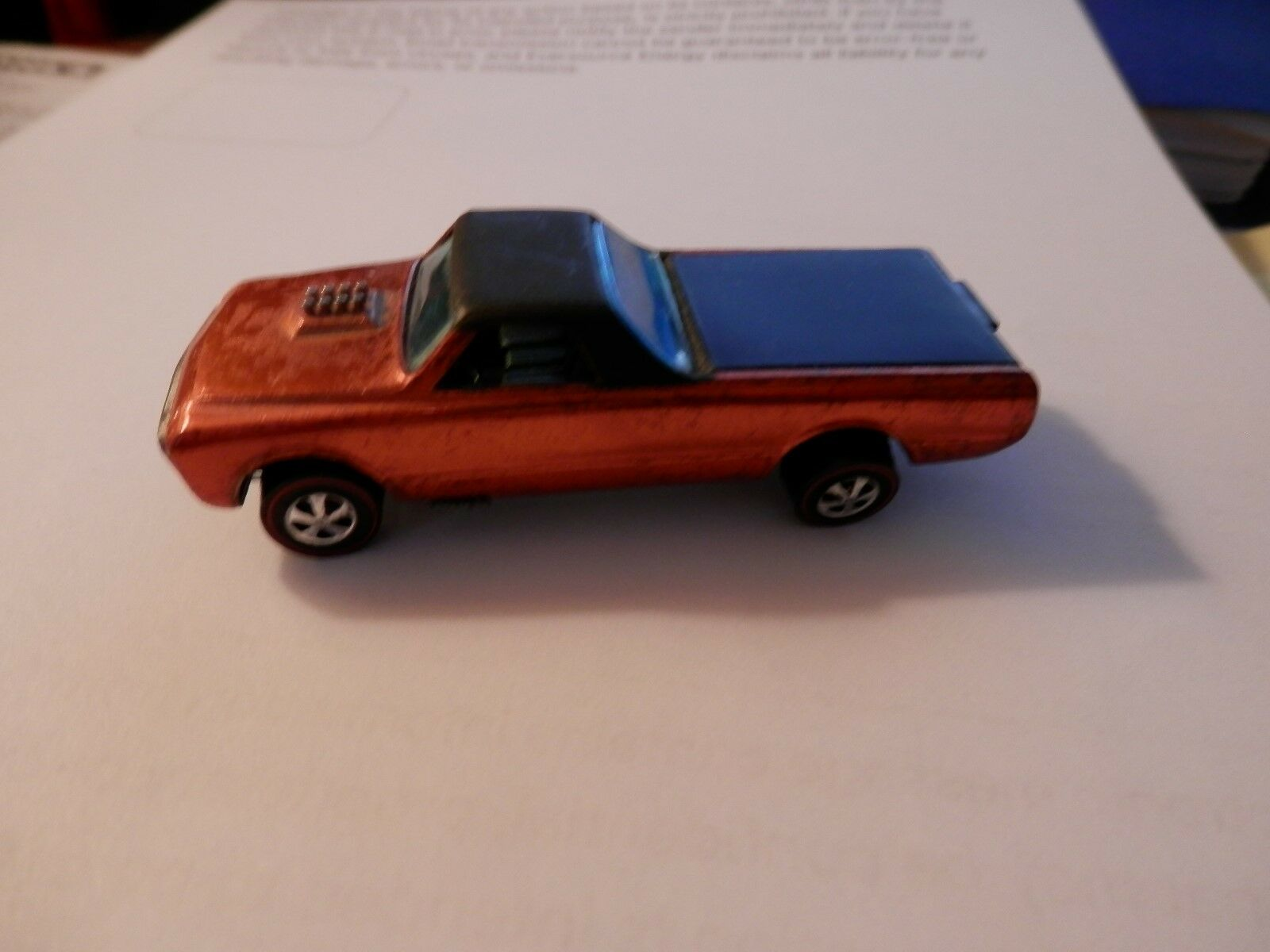 1967 Hot Wheels Red Line Classic Fleetside Metallic orange