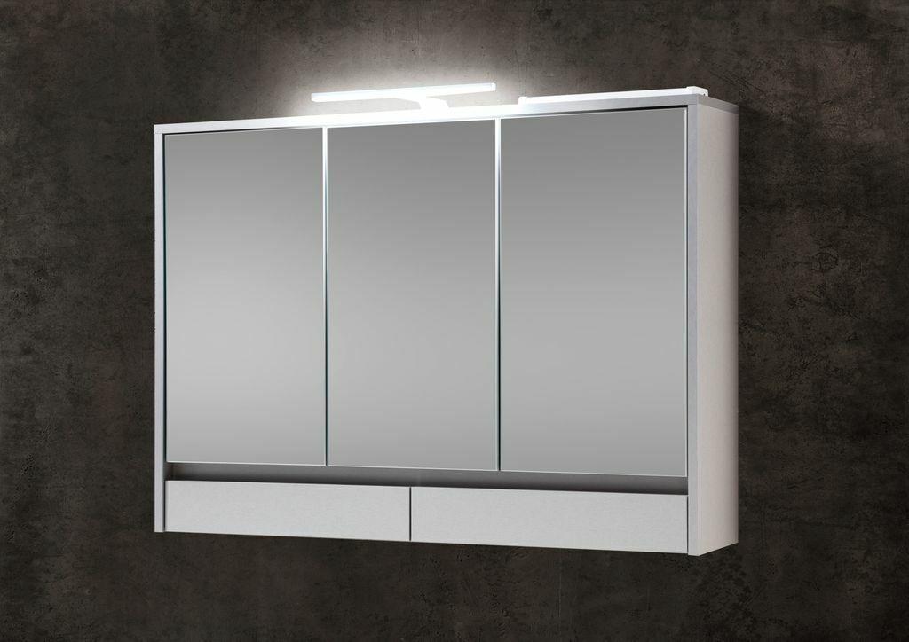 Eight Spiegelschrank Badschrank  Titan   Weiß 100 cm