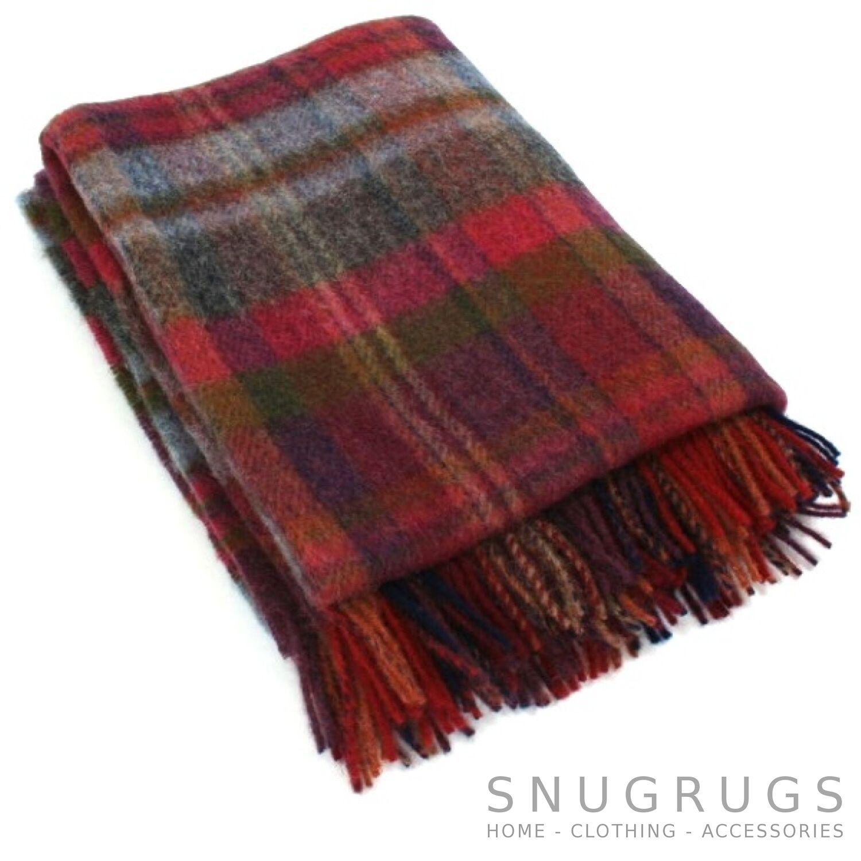 100% Lana blanket throw picnic Manta pequeños y grandes (refjhw13405)