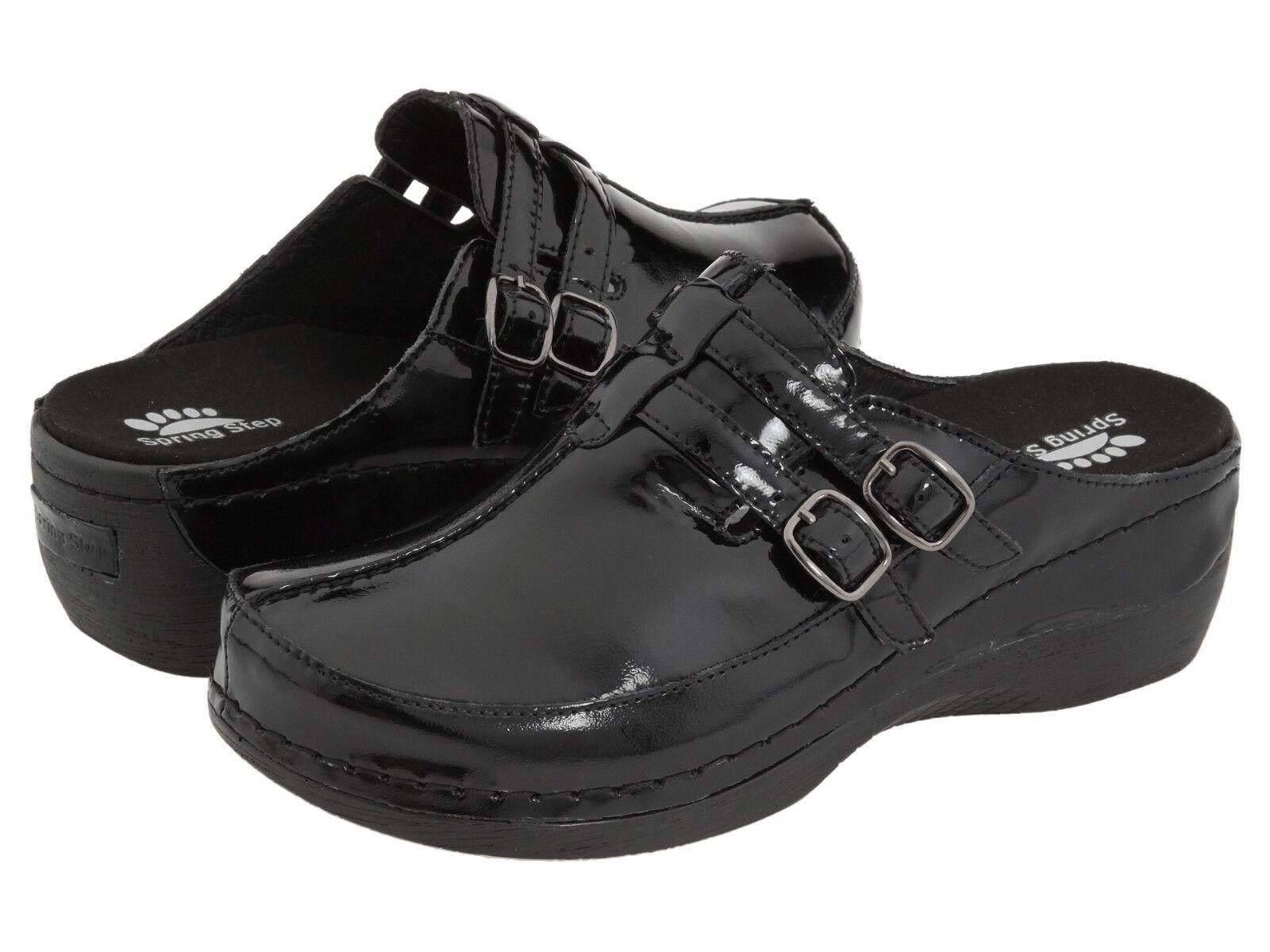Spring Step Feliz Negro Patente 36