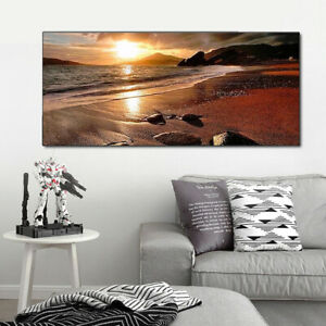 120x50cm-Sunset-Beach-Landscape-Canvas-Wall-Art-Picture-Print-Decor-Frameless