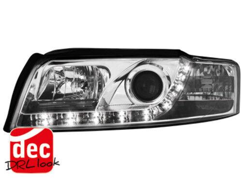 SCHEINWERFER LED TAGFAHRLICHT AUDI A4 8E CHROM NEU