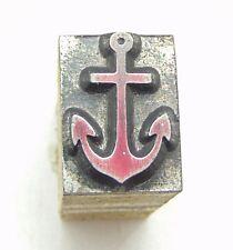 Printing Letterpress Printers Block Tiny Ship Anchor