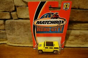 NIB-2002-Matchbox-Hero-City-73-Hummer-H2-SUV-Concept-Yellow-97673-0718