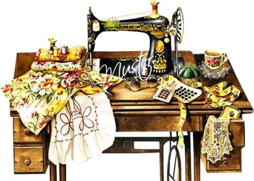Aufkleber Möbeltattoo Sewing Machine Nähmaschine Vintage