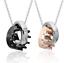 Collana-Coppia-Collane-Fidanzamento-Uomo-Donna-Corona-Queen-King-Fedine-Incision miniatura 1