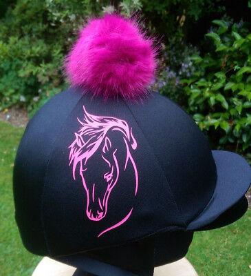 Creativo Finta Pelliccia Pom Pom Cappello Da Equitazione Coprire Seta Equestre Cavallo Elegance- Negozio Online