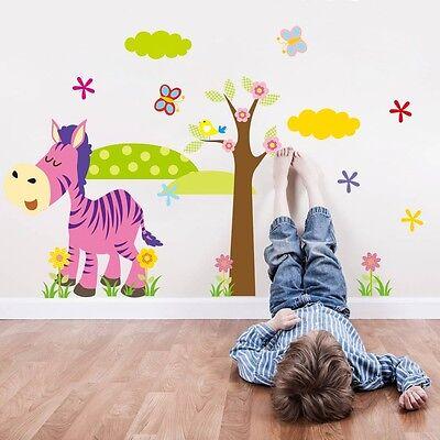 nursery Animal Zoo Cute Kids Room PVC Wall Stickers Wall Decals Kindergarten