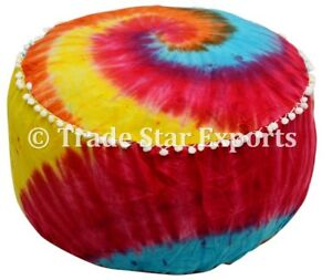 Ordinaire Image Is Loading Tie Dye Footstool Pouf Cover Seating Ottoman Pouffe
