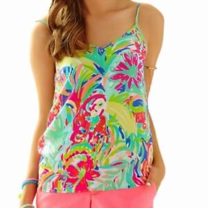 f03c29c7afdf5 Image is loading NWT-LILLY-PULITZER-ZOE-SILK-CAMI-TOP-MULTI-