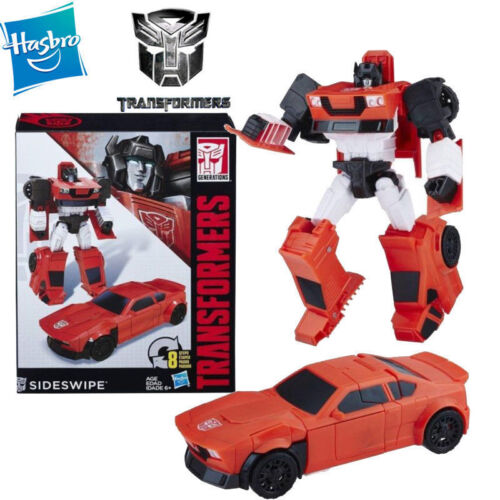 Transformers Cyber Battalion Walgreens Sideswipe Robot Action Figures Car Toy