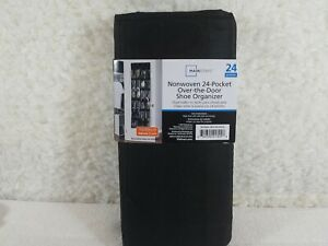 3 Mainstays Nonwoven 24-Pocket over-the-door Shoe Organizer Black Lot of