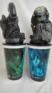 Alien-Vs-Predator-Avp-Theater-2cups-w-Topper-Figures-set-promo-EX-2004-Japan