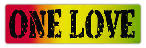 Bumper Sticker Decal - One Love - Bob Marley, Peace, Coexist