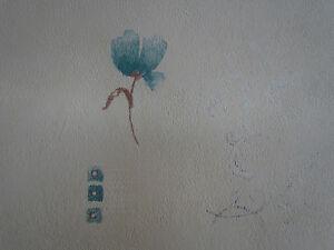 Papel-pintado-Liso-Nata-Verde-Flor-Floral-Feature-Diseno