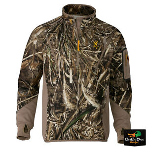 5aef375383fc6 BROWNING WICKED WING SMOOTHBORE FLEECE 1/4 ZIP PULLOVER TOP MAX-5 ...