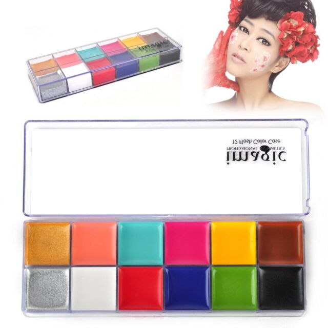 Pro Fashion 12in1 Flash Color Cosmetic Case Makeup Palette for Eyes Cheeks Lips