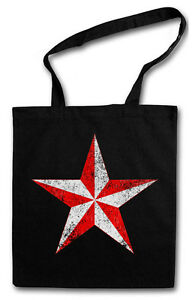 NAUTICAL STAR HIPSTER BAG - Stofftasche Stoffbeutel Jutebeutel - Tattoo Stern