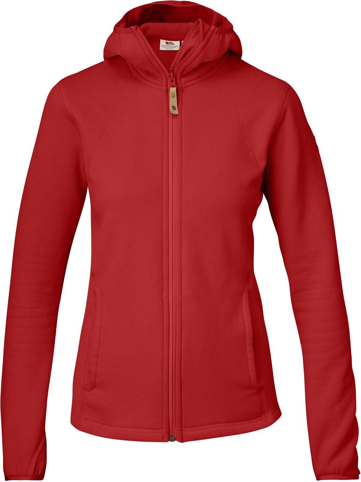 Fjällräven Abisko Fleece Hoodie 89604 rojo señora Fleece chaqueta hoody midlayer