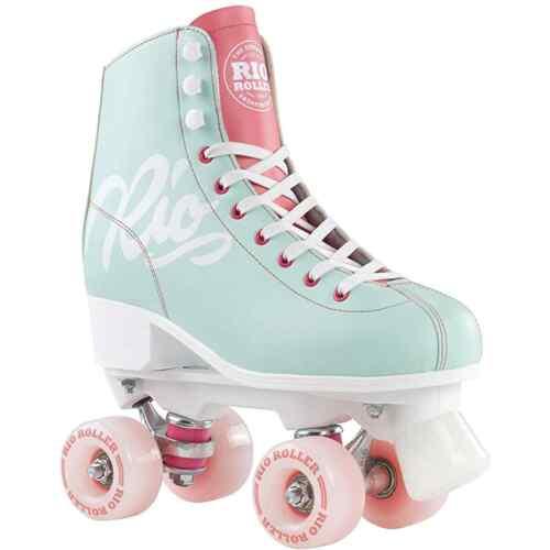 Rio Roller Script Quad Roller Skates Teal//Coral