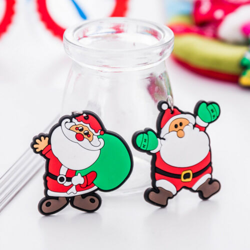 Details about  /36 Pcs Christmas Keychains Snowman Christmas Tree Key Holder for Purse