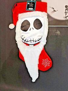 NEW NIGHTMARE BEFORE CHRISTMAS SOCKS SANTA JACK SKELLINGTON