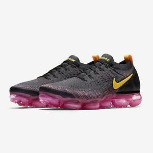Nike-Air-Vapormax-Flyknit-2-Shoes-Gridiron-Pink-Orange-942842-008-Men-039-s-NEW
