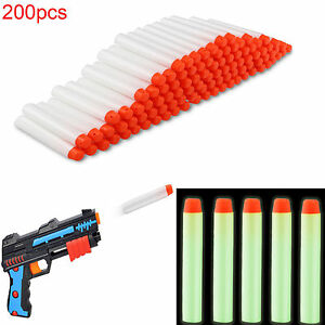200x7.2cm Glow Refill Bullet White Darts for Nerf N-strike Elite Series Toy Gun