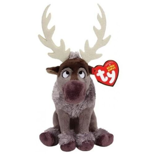 "Ty Beanie Babies 6/"" Sven the Reindeer Stuffed Plush MWMT/'S New w// Heart Tags"