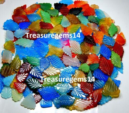 250 quilates de calidad superior natural multi color Ónix Elegante Talla De Hoja Alemania Piedras Preciosas