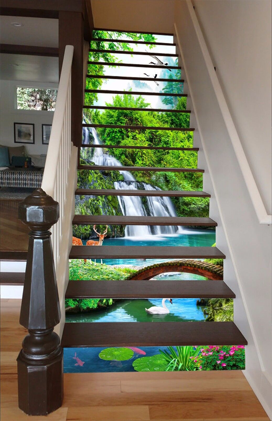 3D Forest Deer 5049 Stair Risers Decoration Photo Mural Vinyl Decal Wallpaper AU