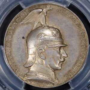 Medal 1914 PCGS SP58German EmpirePrussia Silver Coronation Speech Wilhelm II R