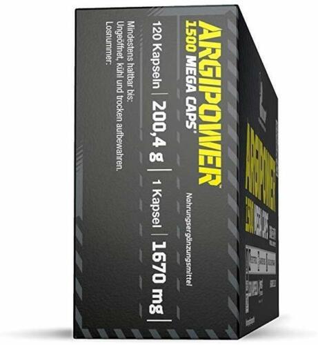 Olimp ArgiPower 1500 Mega Caps 240 Kapseln Fitness Body L-Arginin Sport B-WARE