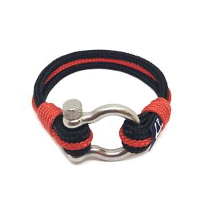 Nautical-Rope-Bracelet-Sailing-Mens-Womens-Handmade-Summer-bracelet-BLACK-RED