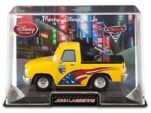 NEW Disney Store Pixar CARS 2 Diecast John Lassetire In Collectors Die Cast