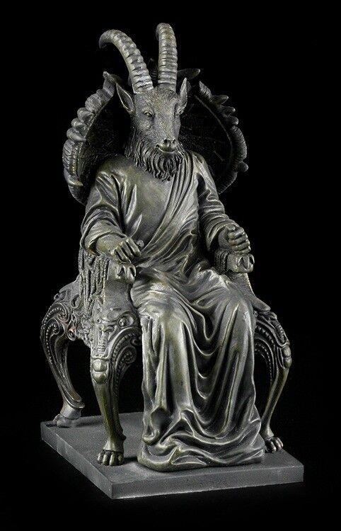 Satana Figura in Forma-Capra Seduta su Trono - Teufel Demone Luzifer Gotico