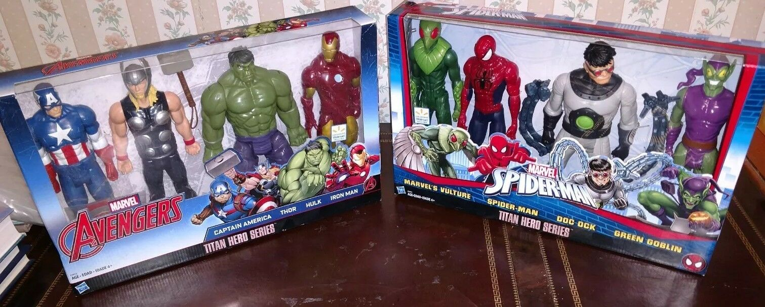 Marvel  spider - man  und  titan held serie action - figur 4pc setzen film toy