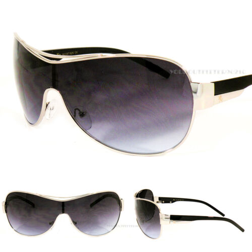 Khan Sports Shield New Mens Fashion Sunglasses Driving Biker Designer Black UV