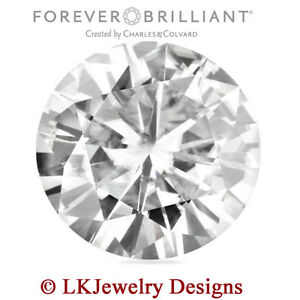 0.10 CT MOISSANITE ROUND FOREVER BRILLIANT LOOSE STONE - 3 mm