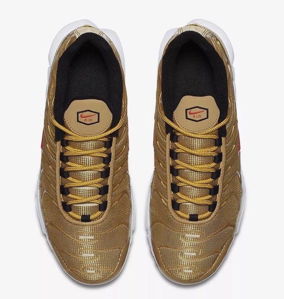Nike Air Max Max Max Plus TN SE BG AR0259-700 Metallic gold Size US 6.5 Y New c8112e