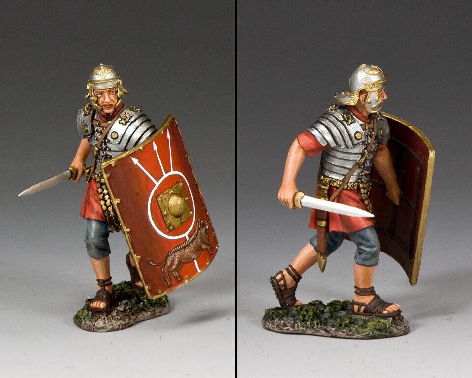 King & Land Roman Empire ROM015 Roman Legionär in Anmarsch mit Schwert MIB
