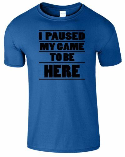 I Paused My Game To Be Here Mens Kids T-Shirt Boys Funny Joke Boys Gift TShirt
