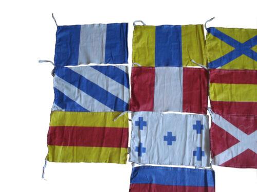 100/% SATISFY 100/% COTTON Naval Signal Flags Flag SET Set of Total 10 flag
