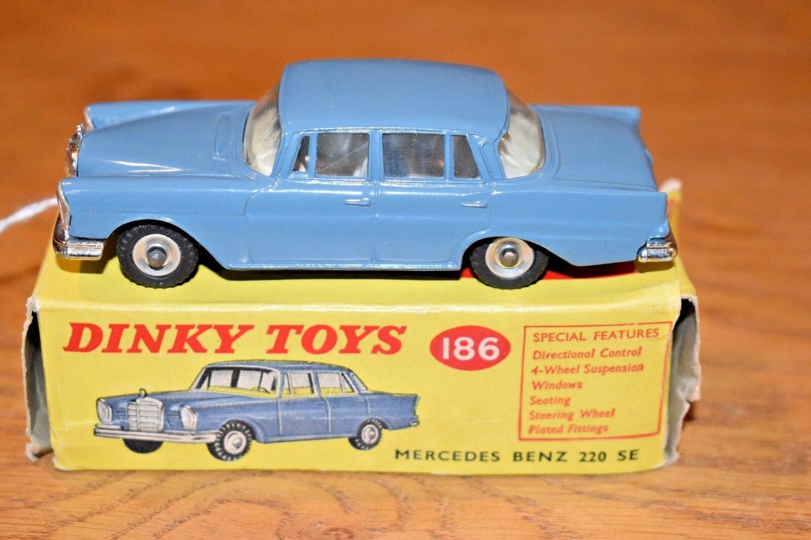 Dinky Toys; 186; Mercedes Benz 220 SE; Original Box; RAF bluee