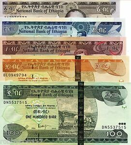 Image Is Loading Ethiopia 5 Note Set 1 100 Birr Banknote