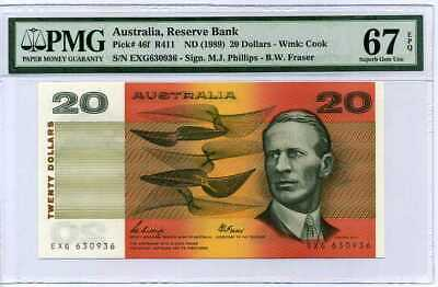 AUSTRALIA 20 DOLLARS ND 2019 P NEW POLYMER SUPERB GEM UNC PMG 67 EPQ
