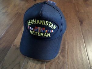Image is loading AFGHANISTAN-WAR-VETERAN-HAT-U-S-MILITARY-OFFICIAL-BALL- 6134f1b18f1